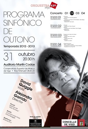 Beethoven, Bartok e Purcell pola Orquesta 430